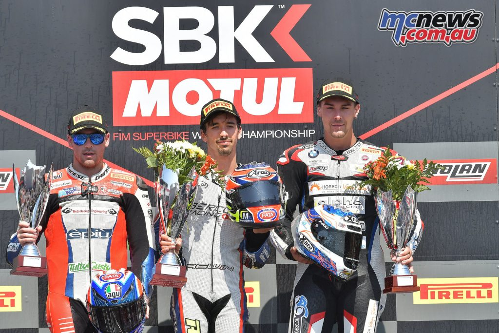 WorldSBK Rnd Portugal STK podium