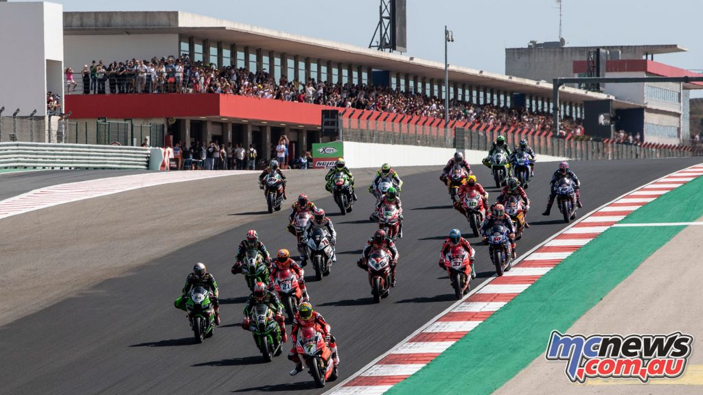 WorldSBK Rnd Portugal Sunday Race Start DSC