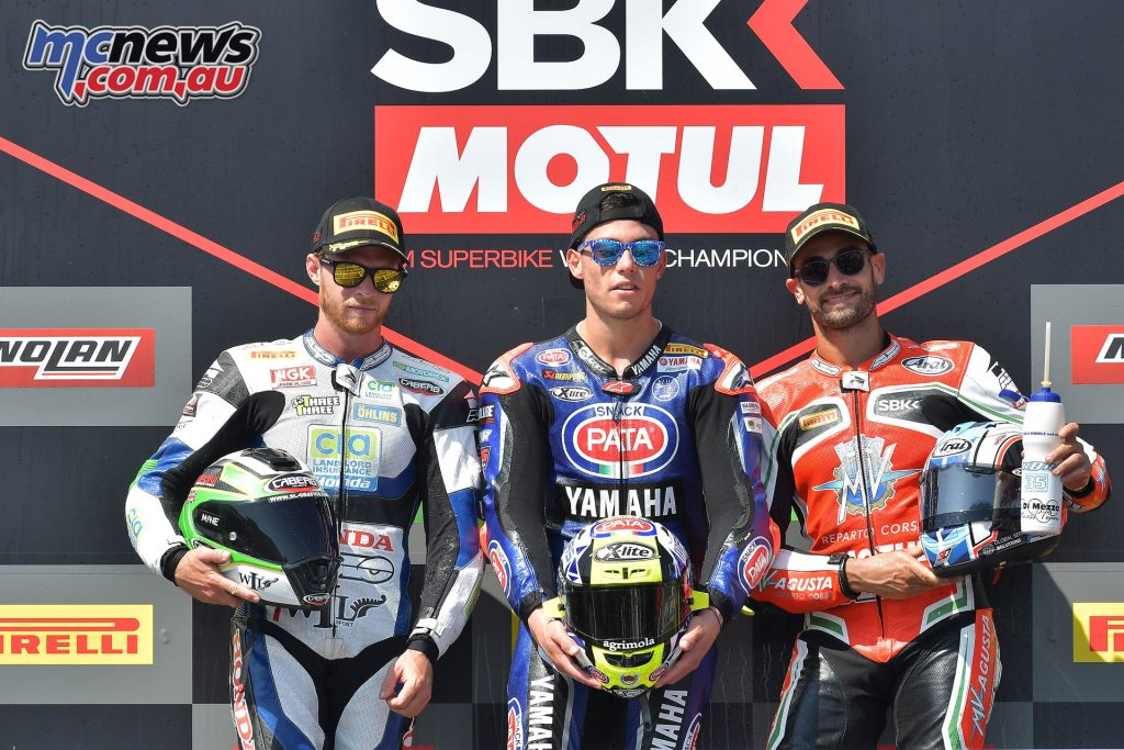 WorldSBK Rnd Portugal WorldSSP Podium