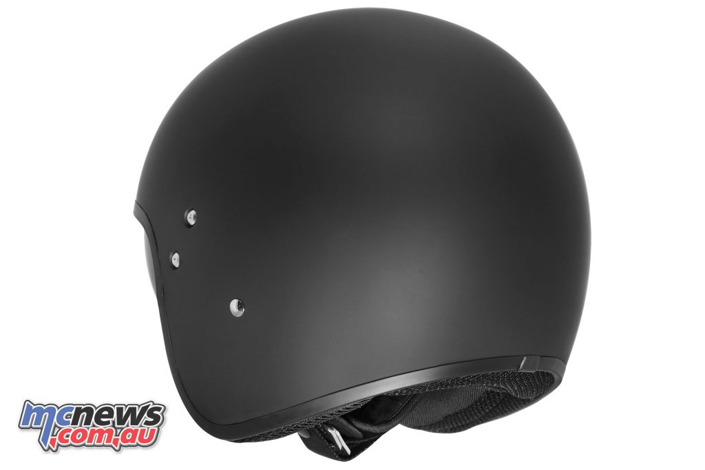 dririder highway solid mattblack rear helmet