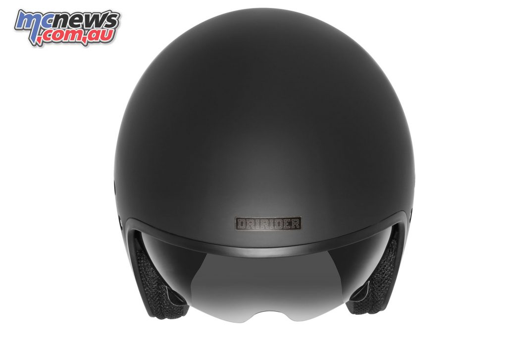 dririder highway solid mattblack top helmet
