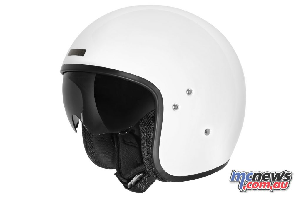 dririder highway solid white helmet