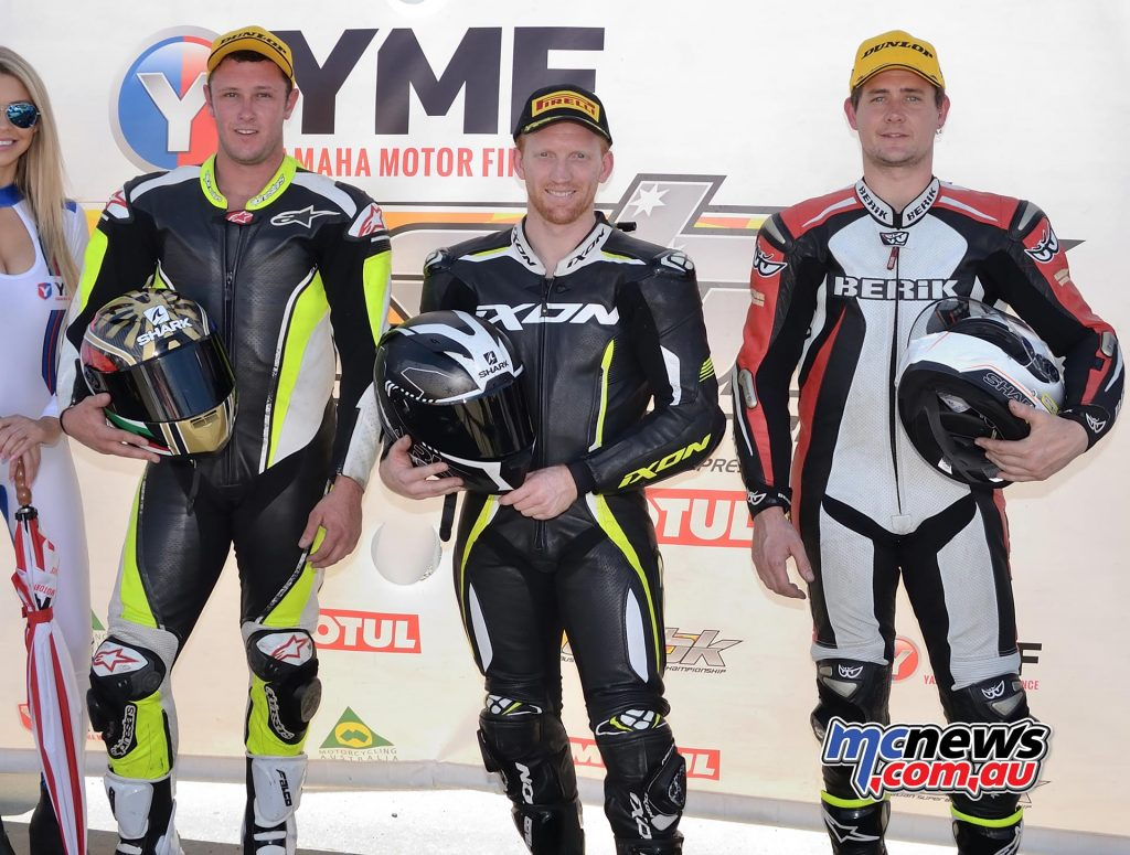 ASBK Rnd Phillip Island RM SBM Parc Ferme Podium Photo