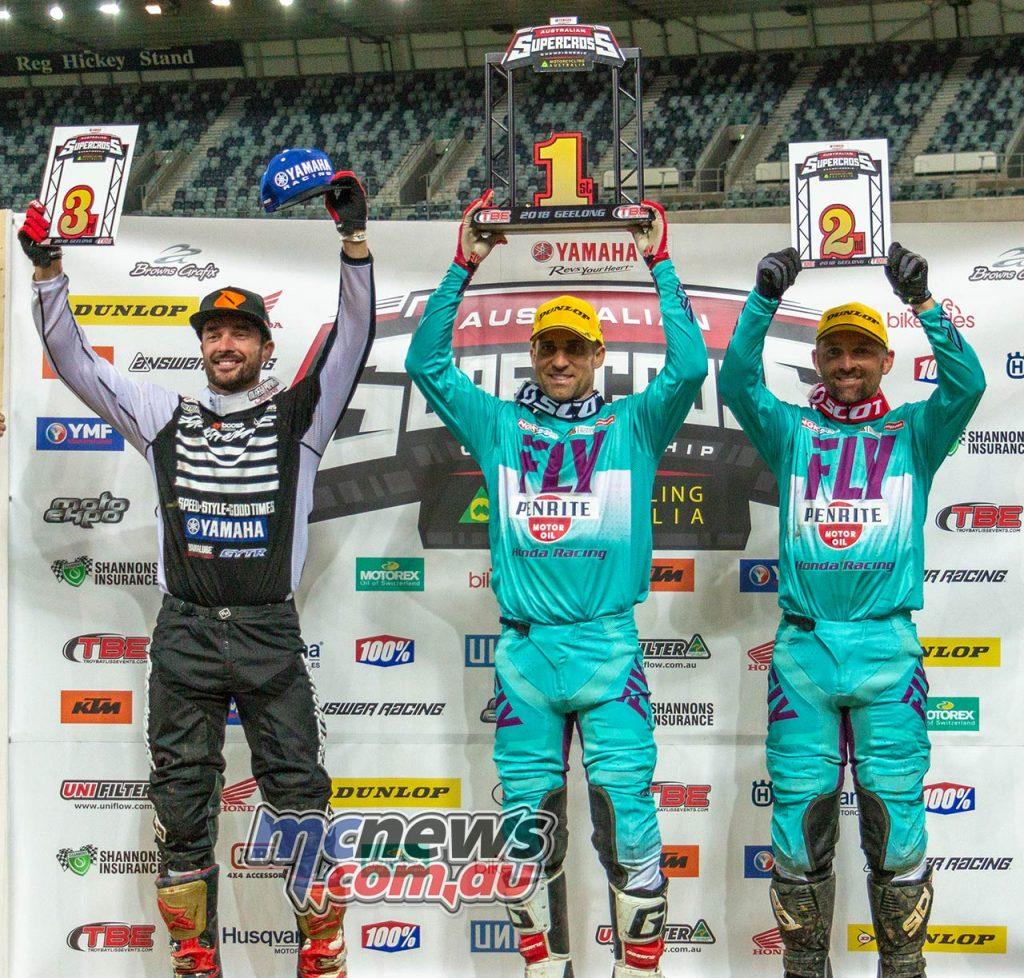 Australian Supercross Geeling TBG SX Podium Brayton