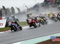 BSB Final Brands Sun Superbike Race start Richard Cooper leads the pack