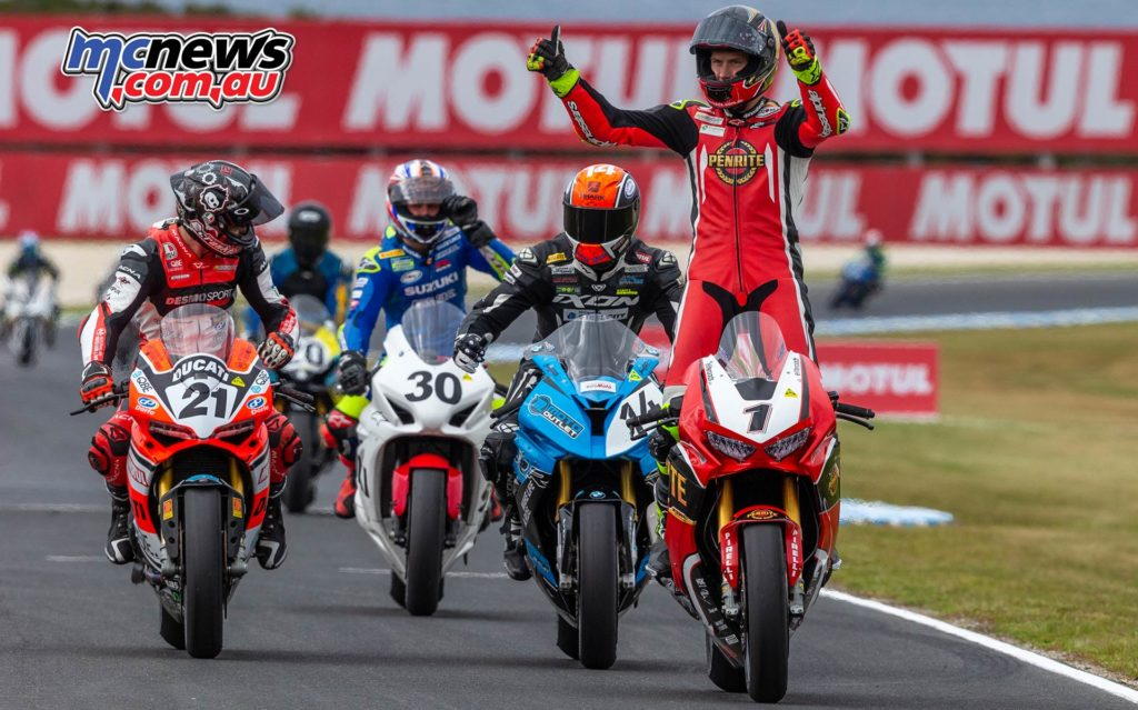 MotoGP ASBK Supports TBG Superbike Race Herfoss Win