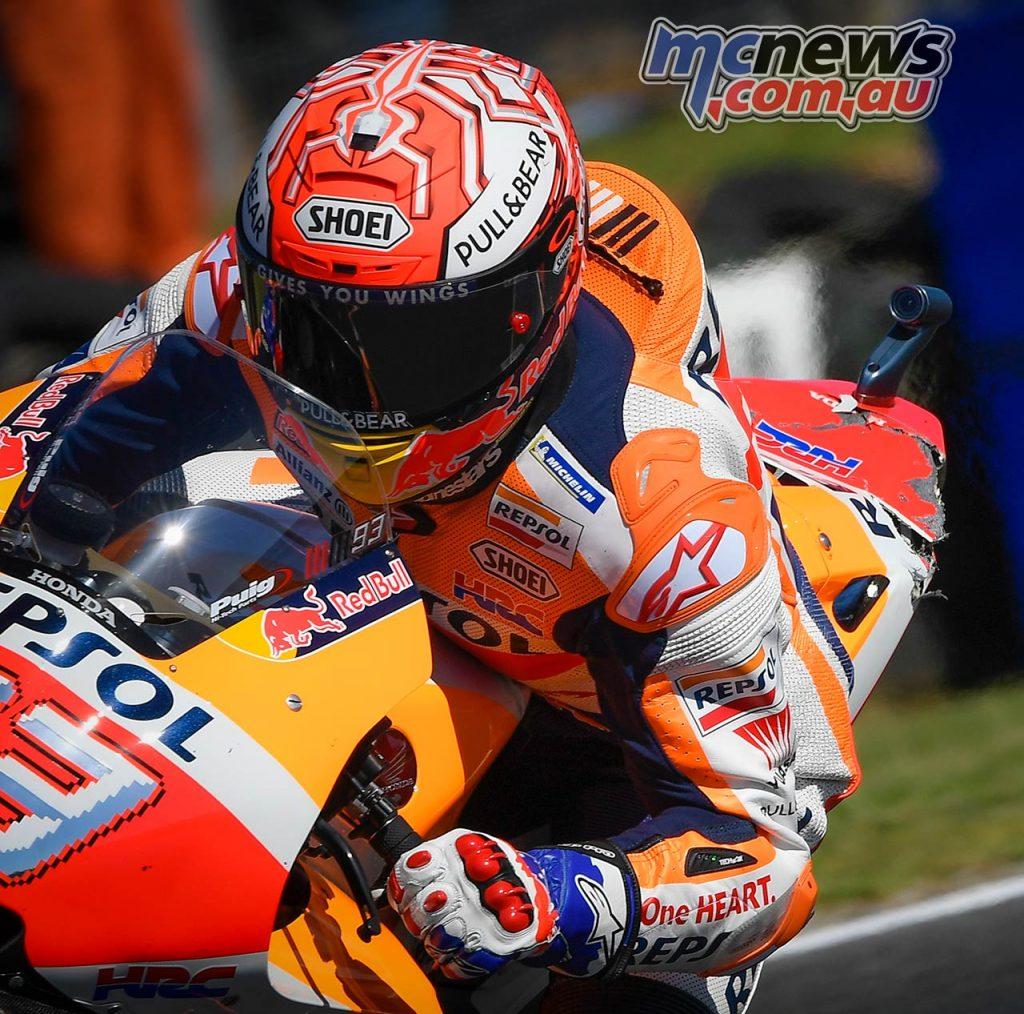 MotoGP Australia Marquez Damage