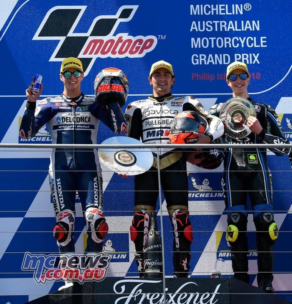 MotoGP Australia Moto Albert Arenas Podium