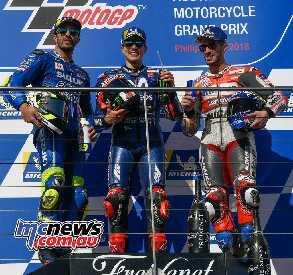 MotoGP Australia MotoGP Vinales Iannone Dovi