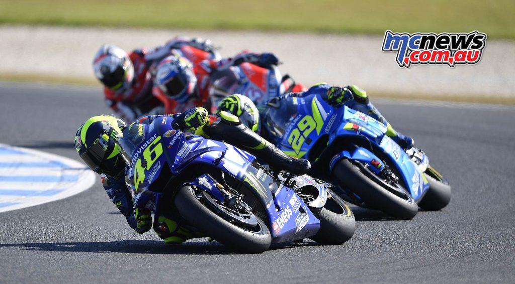 MotoGP Australia Rossi Iannone Dovi