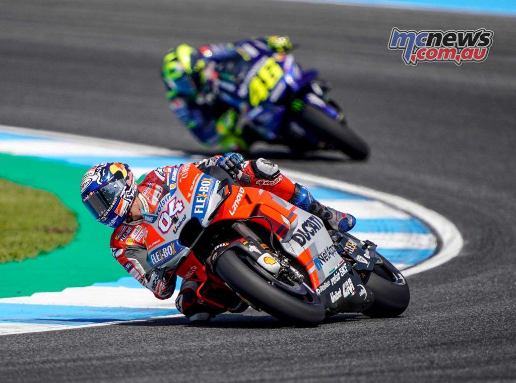MotoGP Thailand Fri Dovizioso Rossi