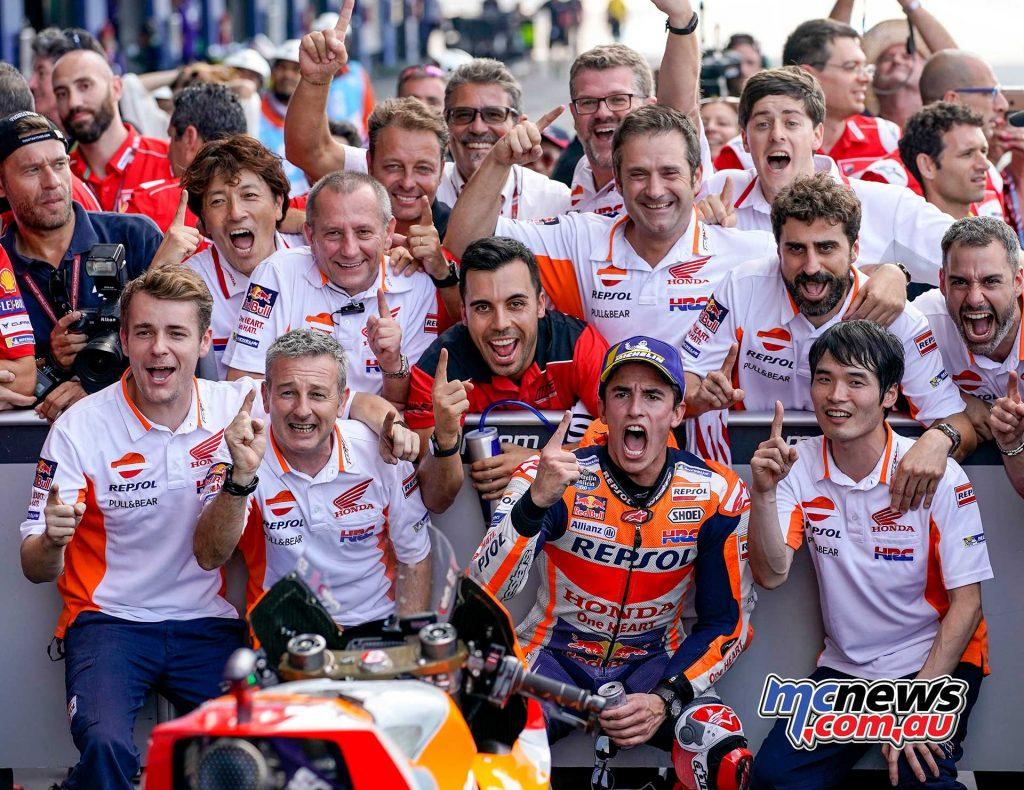 MotogGP Rnd Thailand Marquez Celebrate
