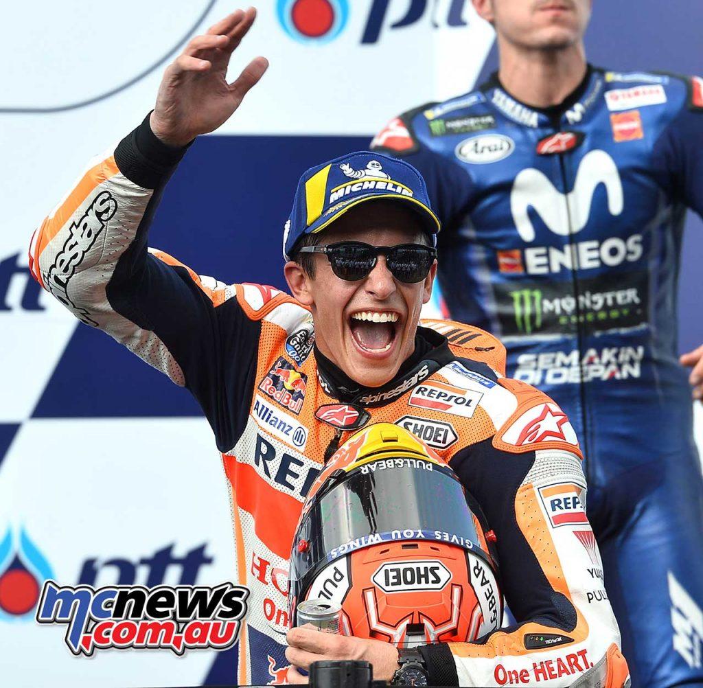 MotogGP Rnd Thailand Podium Marquez
