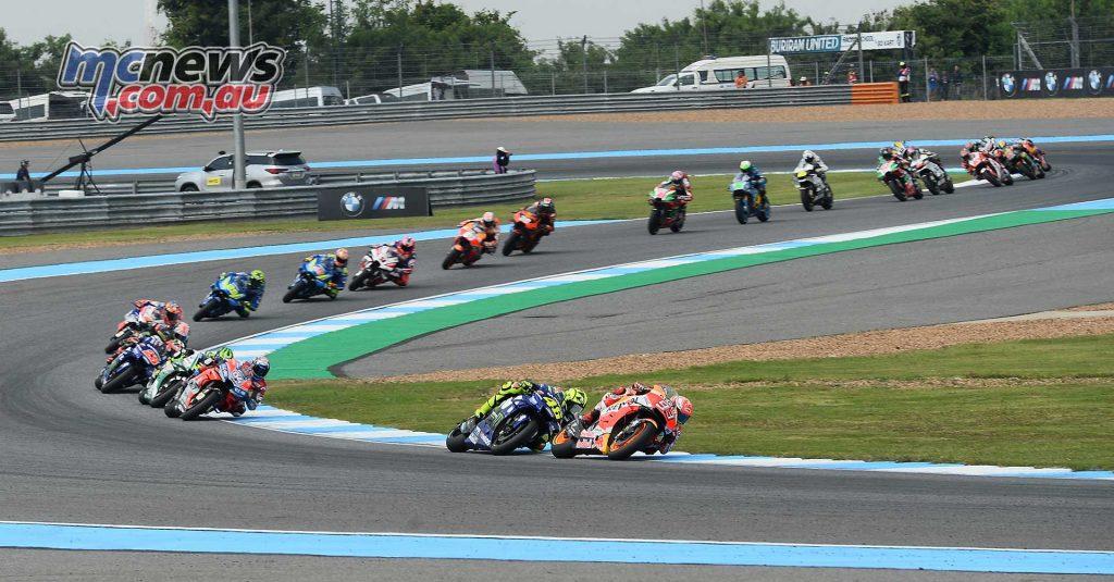 MotogGP Rnd Thailand Start Marquez Rossi