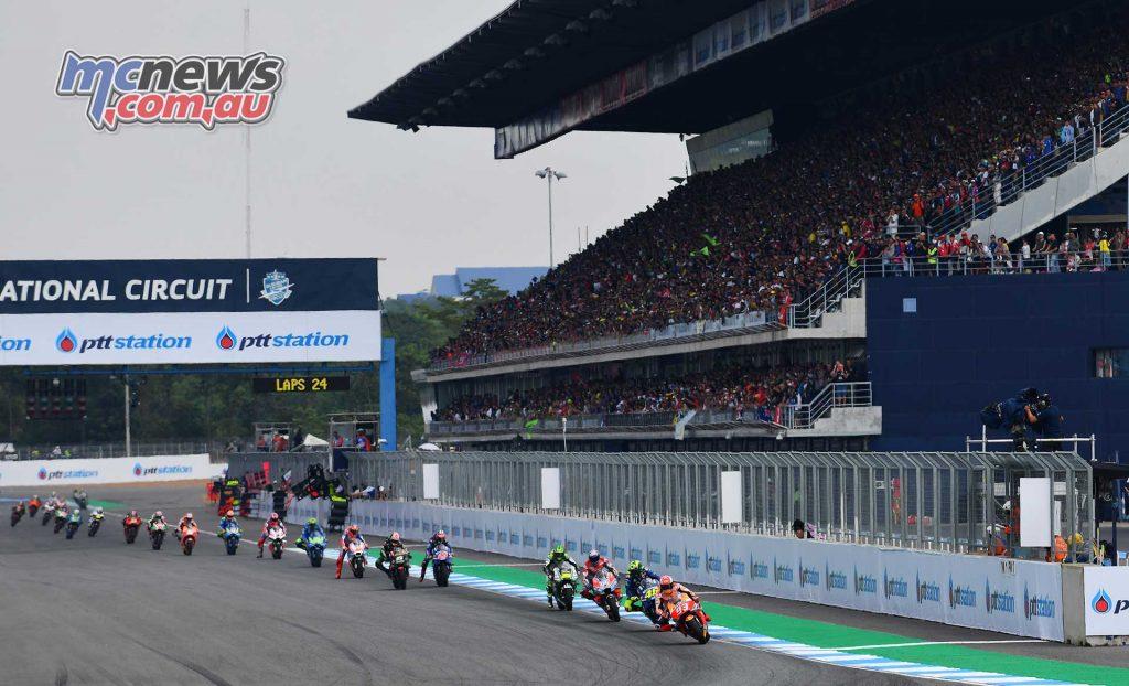 MotogGP Rnd Thailand Start Marquez Rossi Dovizioso