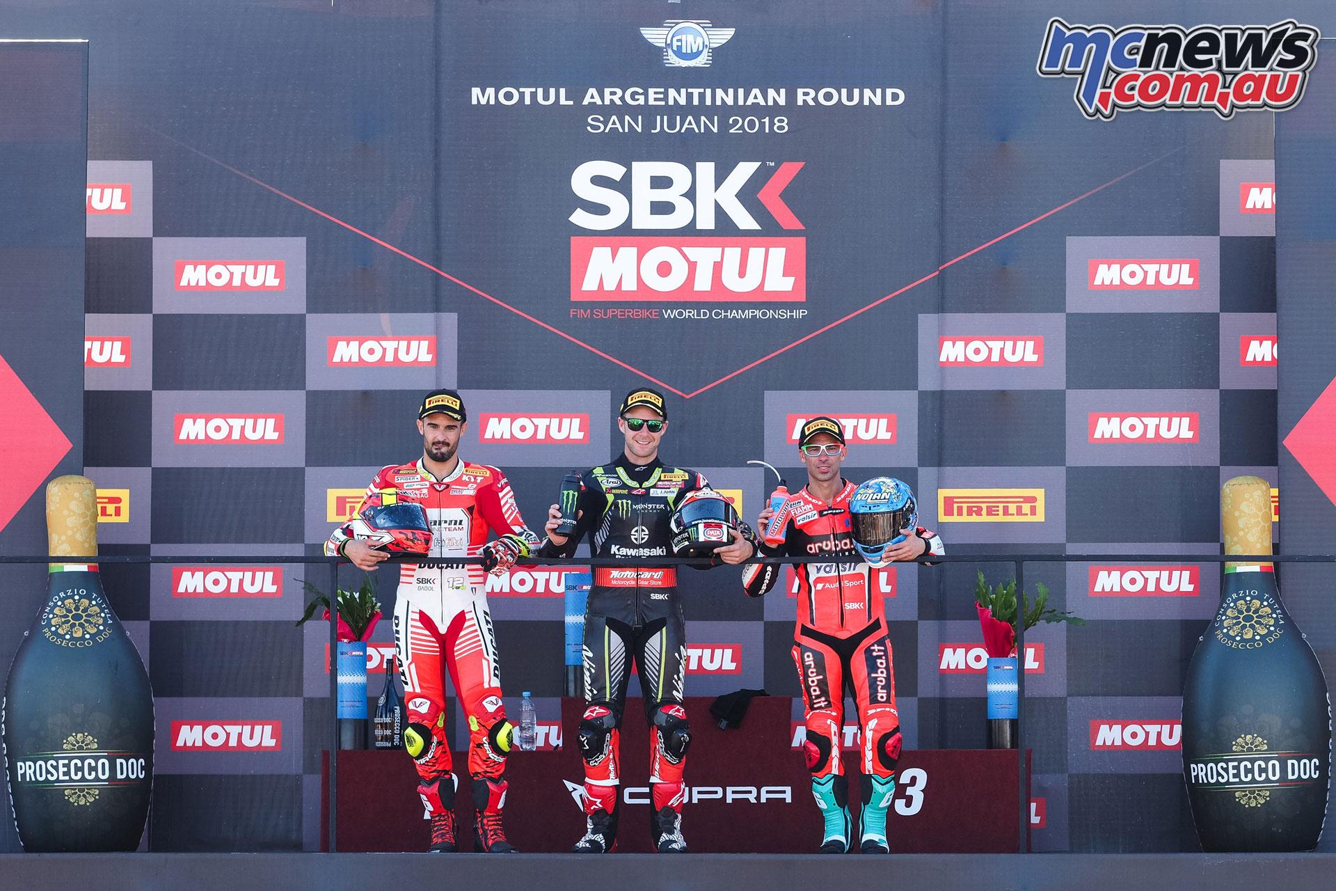 WSBK Argentina Race Podium