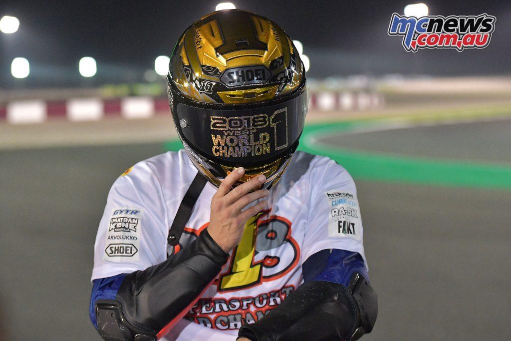 WSBK Losail WSSP Sandro Cortese helmet