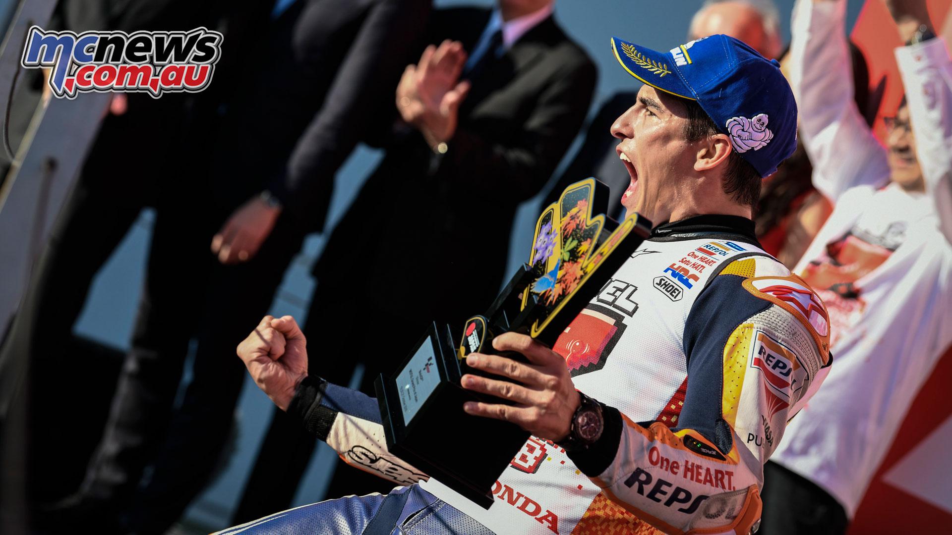 dead1465ff246 MotoGP Japan Sun Marc Marquez Marc Marquez 2018 MotoGP World Champion ...