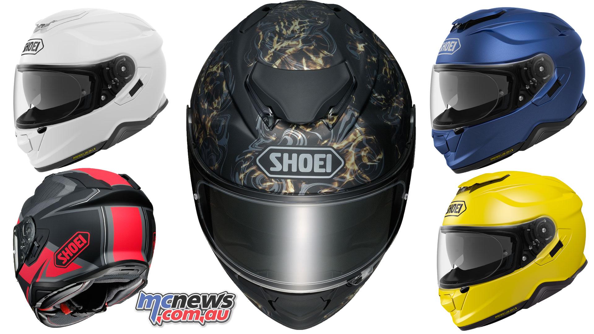 shoei 39 s new gt air ii helmet arrives march sena srl2. Black Bedroom Furniture Sets. Home Design Ideas