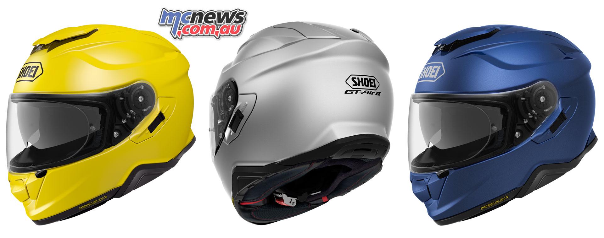 Shoei's new GT-Air II Helmet arrives March   Sena SRL2 ready