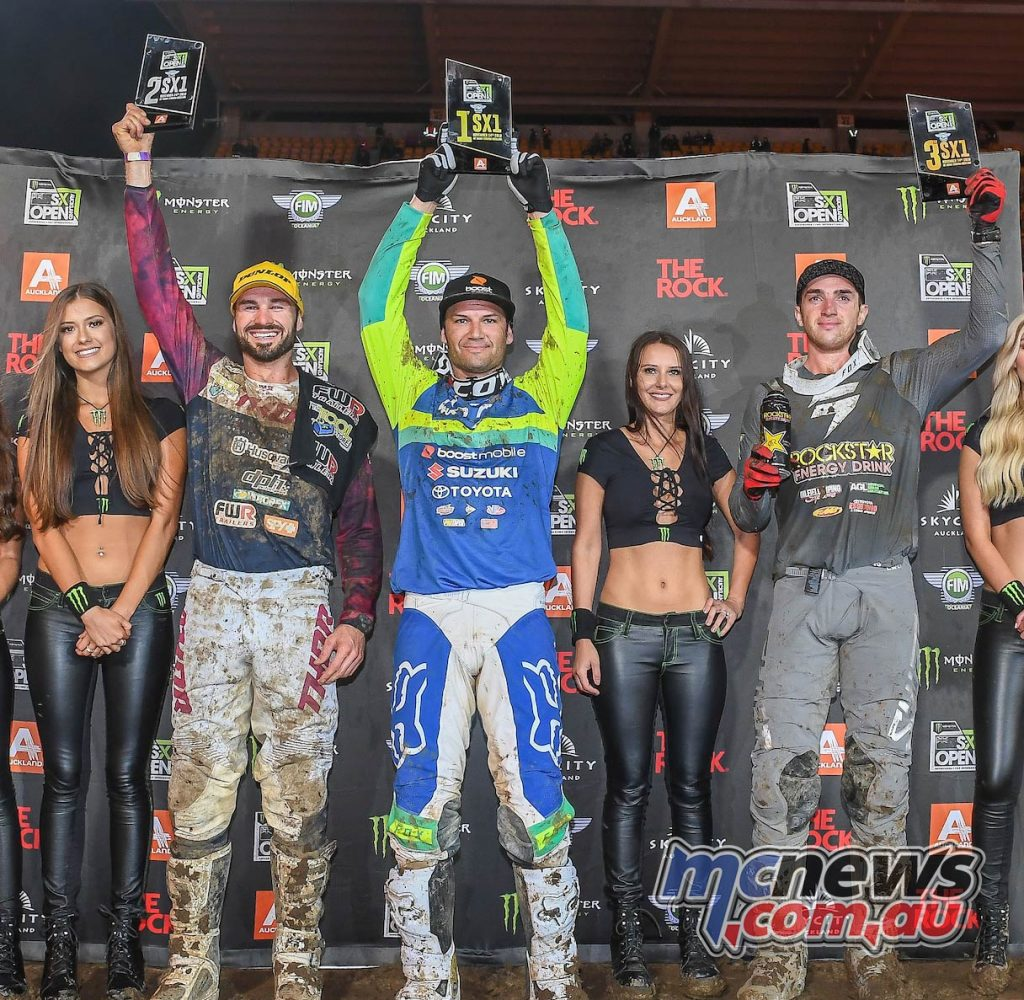 AUS X Open International Supercross FIM Oceania Championship SX Podium Reed