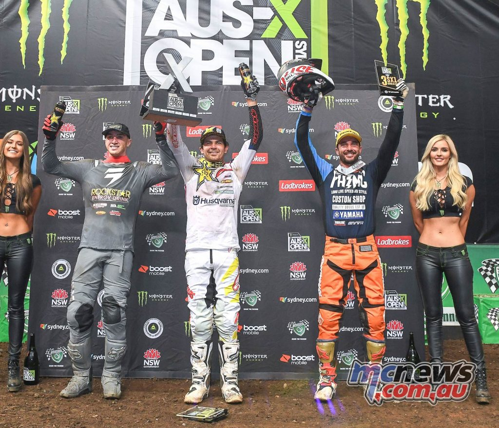 AUS X Open Jason Anderson Podium