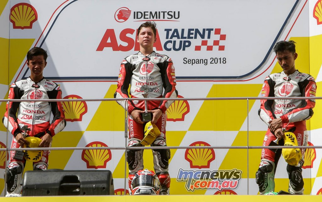 Asia Talent Cup Billy Van Eerde Relief