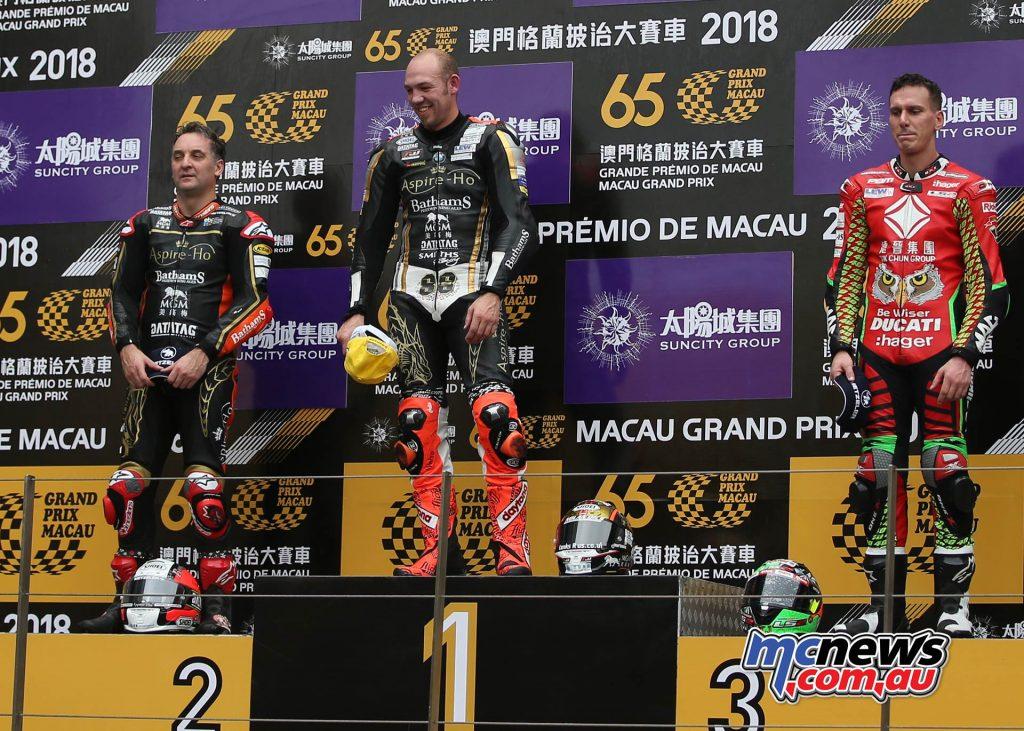 Macau GP Peter Hickman Win Podium Rutter Jessopp