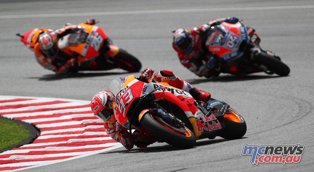 MotoGP Malaysia Race Marquez Dovi Pedrosa