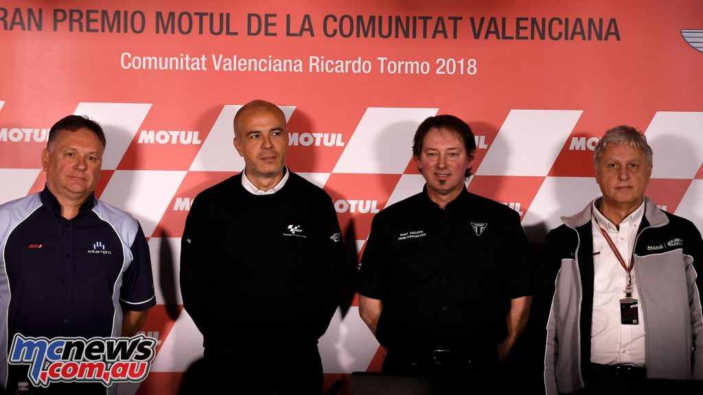 MotoGP Valencia Conf Trevor Morris Corrado Cecchinelli Stuart Wood Marco Venturi