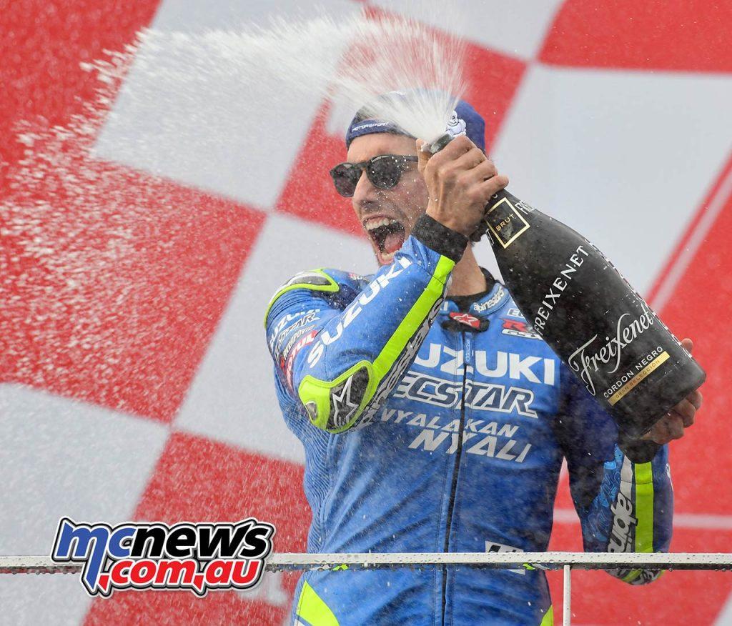 MotoGP Valencia Michelin Podium Rins
