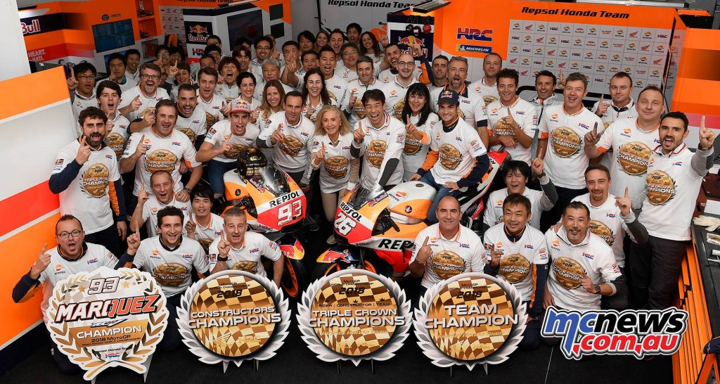 MotoGP Valencia Repsol Honda Triple Crown