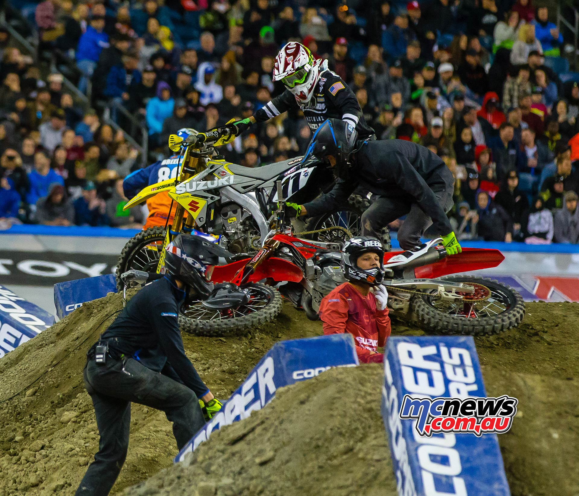 AMA SX Rnd Crash Reed Multiple JK SX Seattle