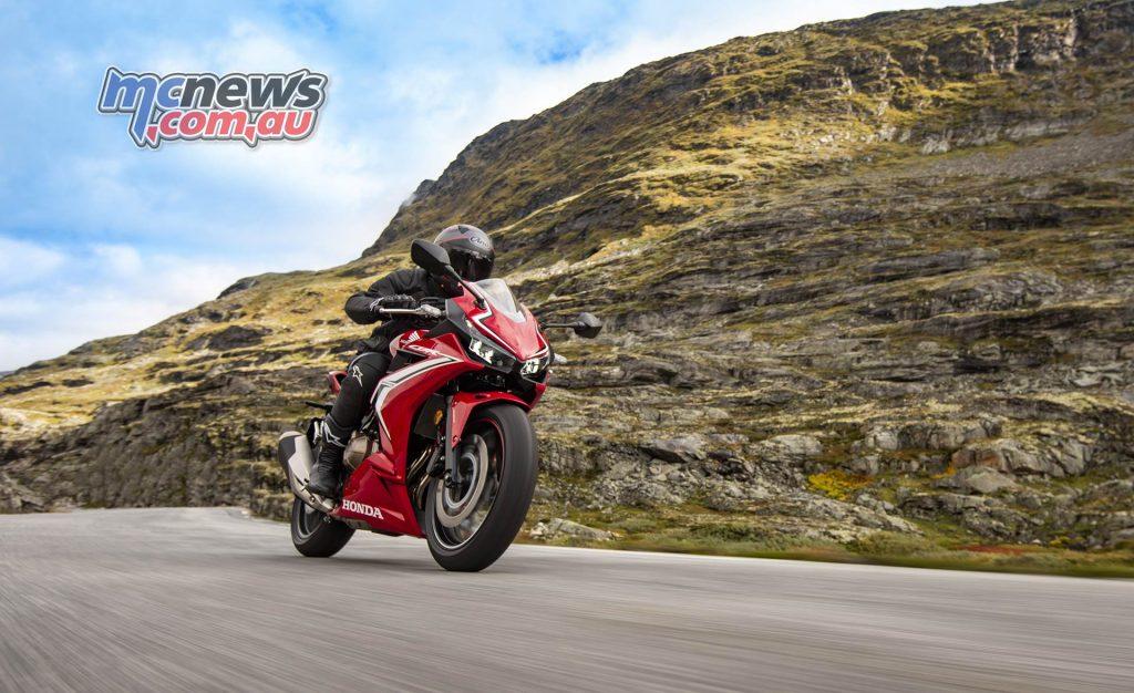 Honda CBRR Action