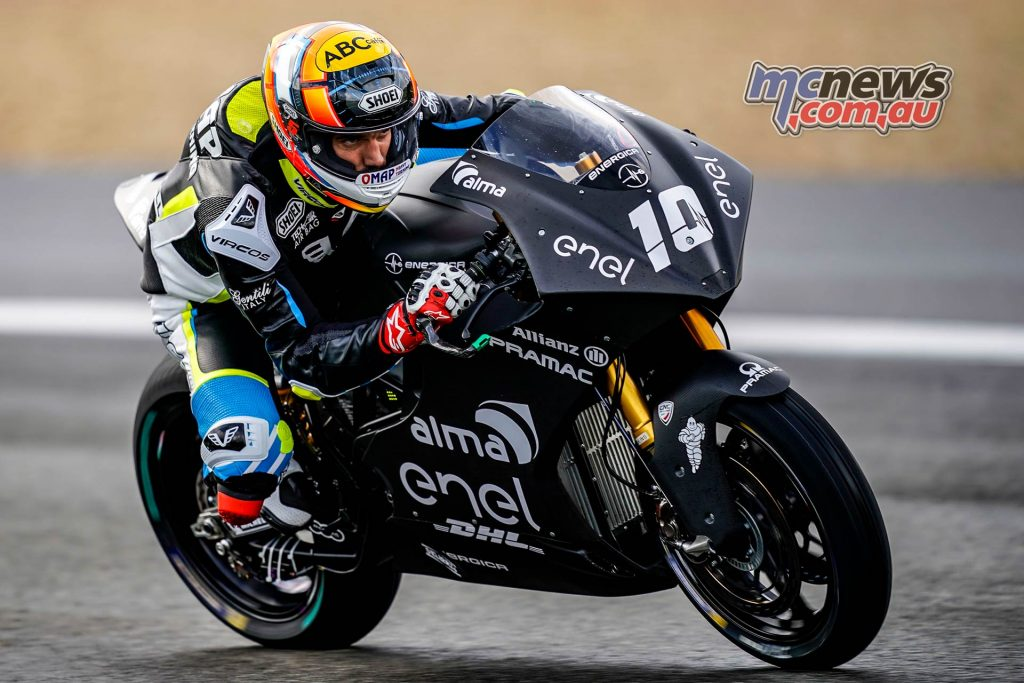 MotoE Test Jerez Day Alex De Angelis