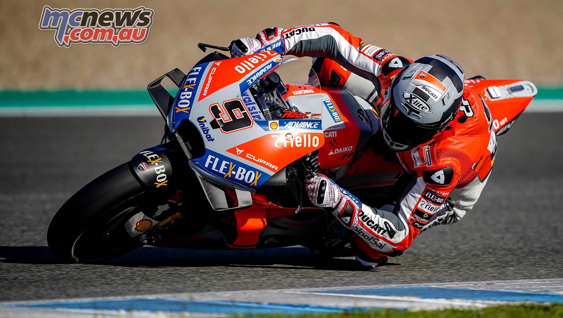 Danilo Petrucci tops opening day of Jerez MotoGP Test | MCNews.com.au