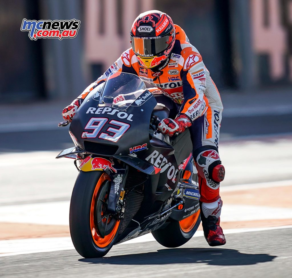 MotoGP Test Valencia Day Marc Marquez