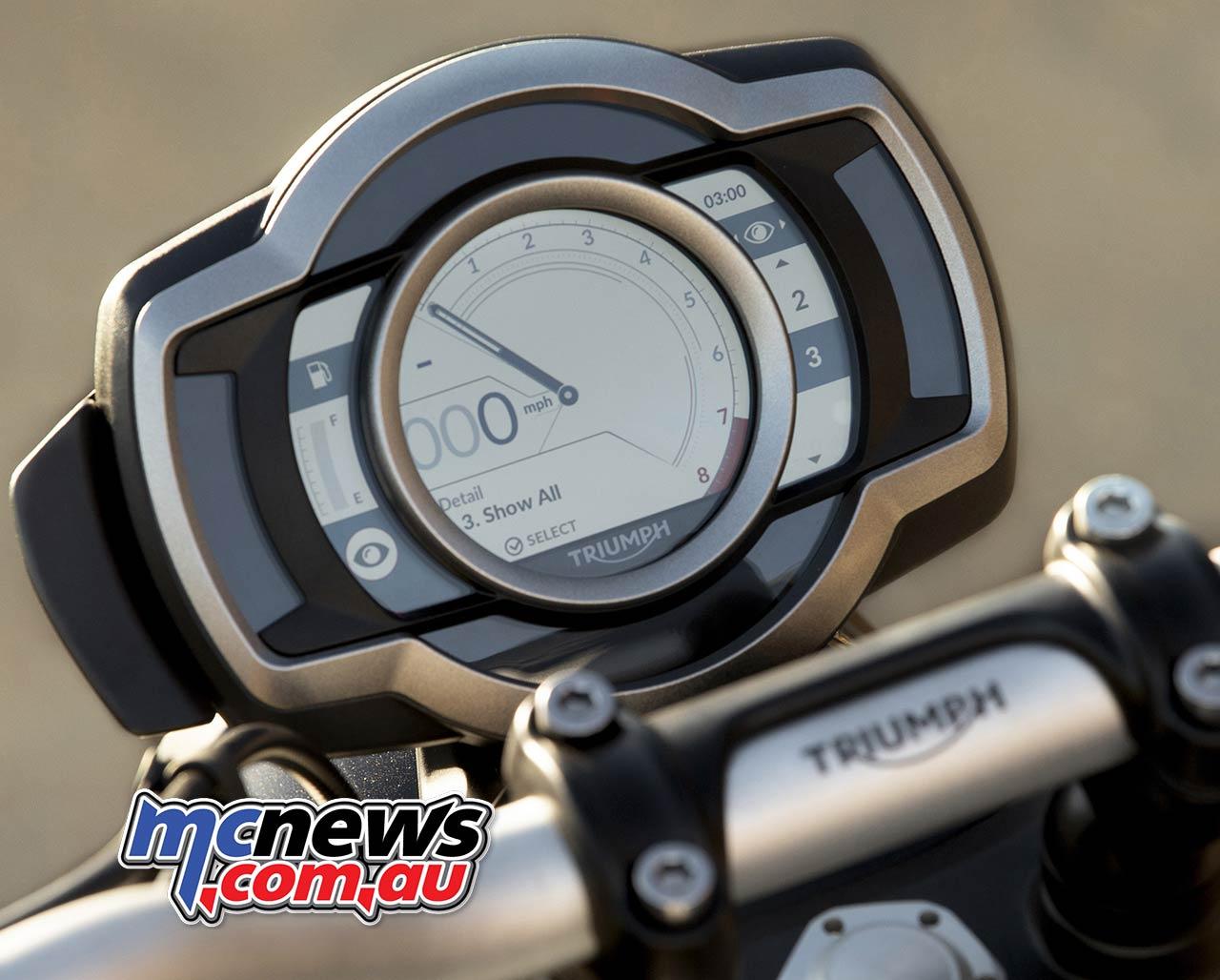 Triumph Scrambler XE Speedo