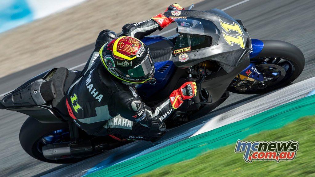 WSBK Test Jerez Nov GeeBee Sandro Cortese