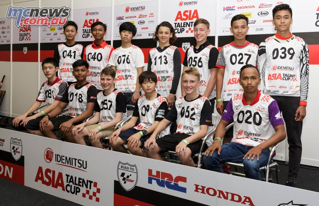 Asia Talent Cup Selections