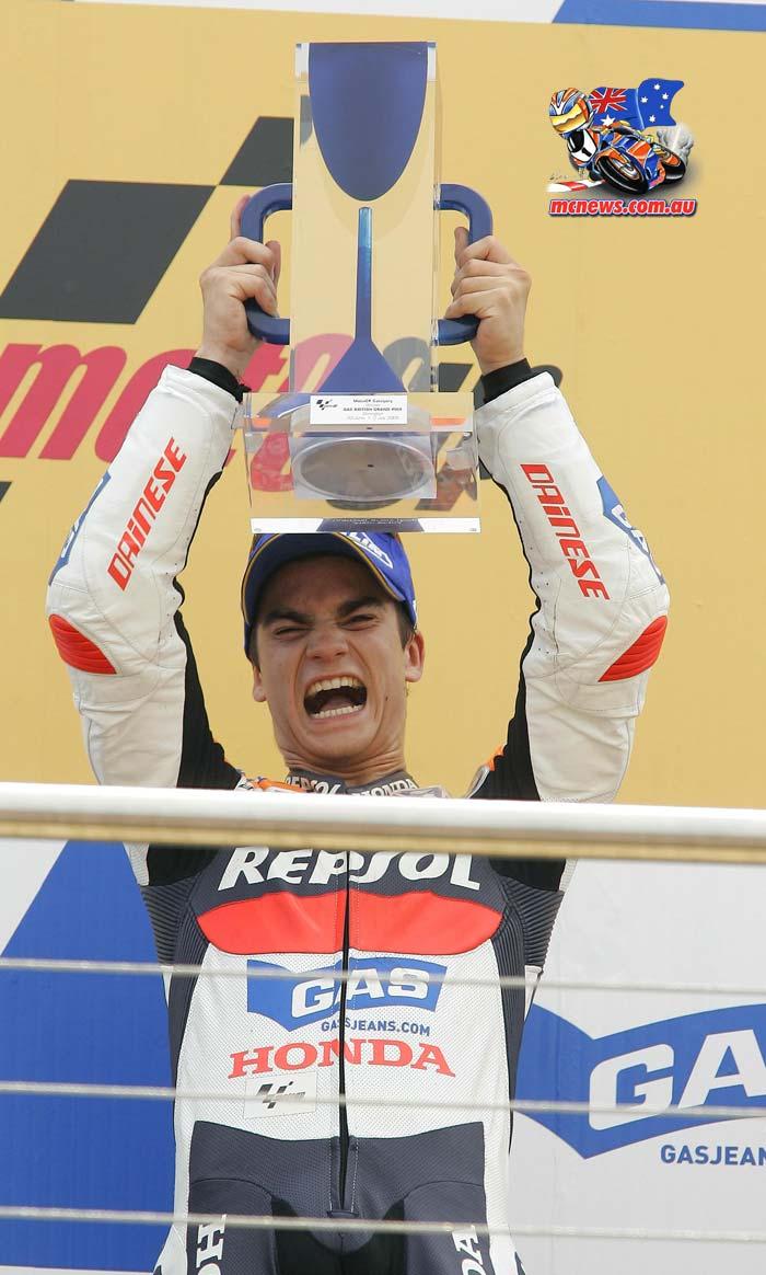 Dani Pedrosa MotoGP Donington Win