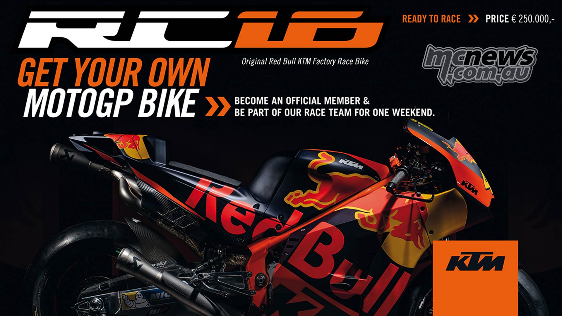 Ktm Offer Genuine Ktm Rc16 Motogp Machines Up For Sale Motorcycle News Sport And Reviews