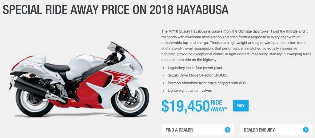 Hayabusa Offer