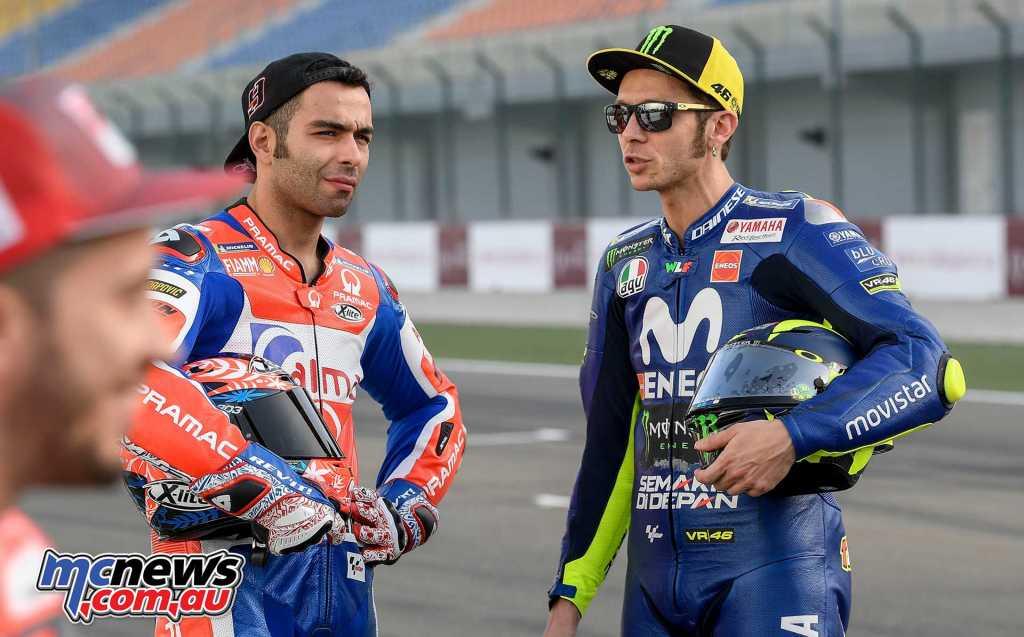 Danilo Petrucci and Valentino Rossi