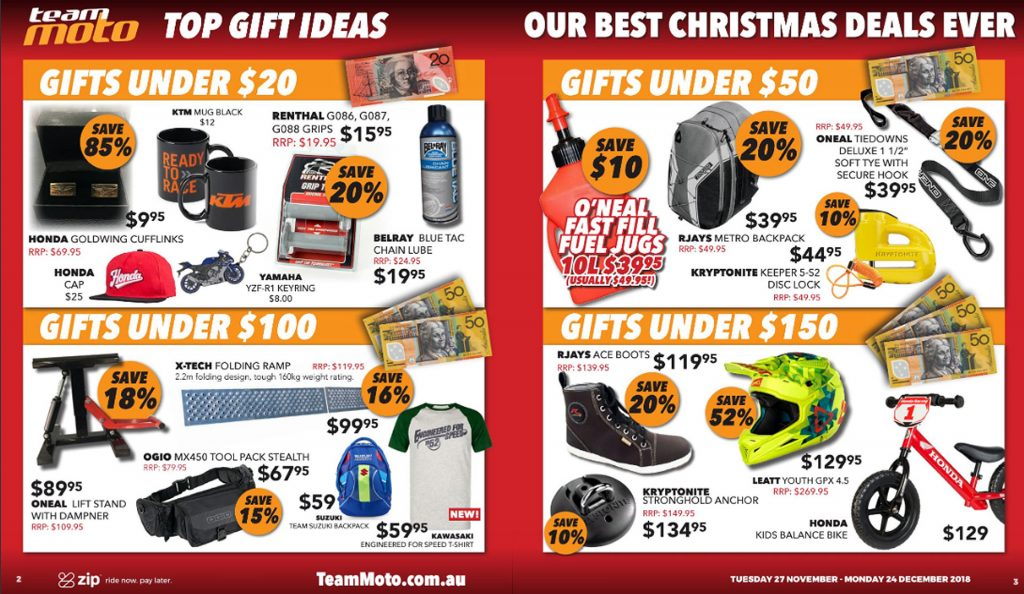 Team Moto Christmas Sale