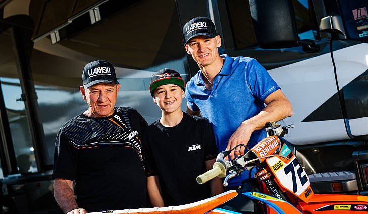 The Everts motocross dynasty from left to right Harry Liam and Stefan