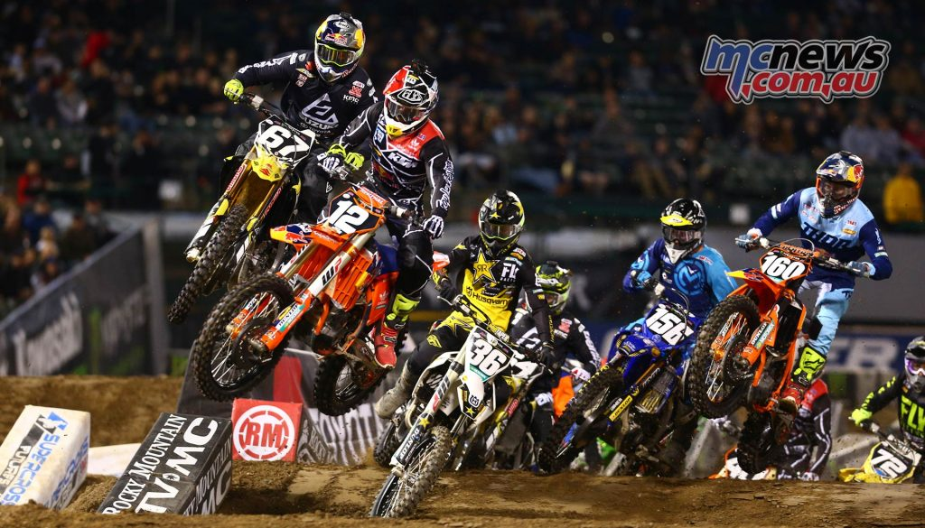 AMA SX Rnd Oakland Start Heat J K