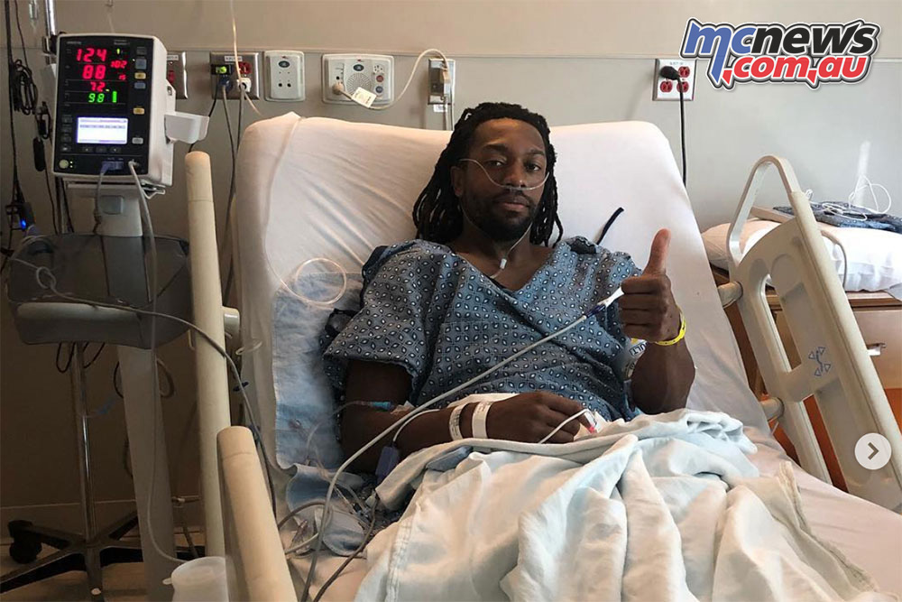 Malcolm Stewart broke his femur at Glendale