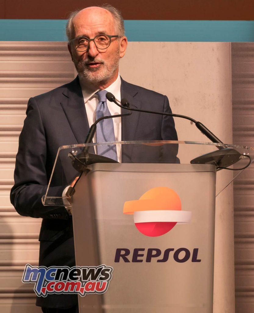 MotoGP Repsol HRC Launch Antonio Brufau Repsol CEO
