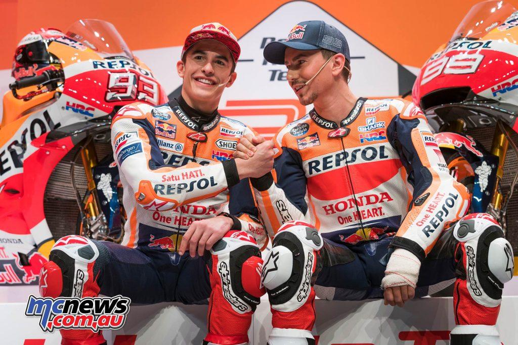 MotoGP Repsol HRC Launch Jorge Lorenzo Marc Marquez